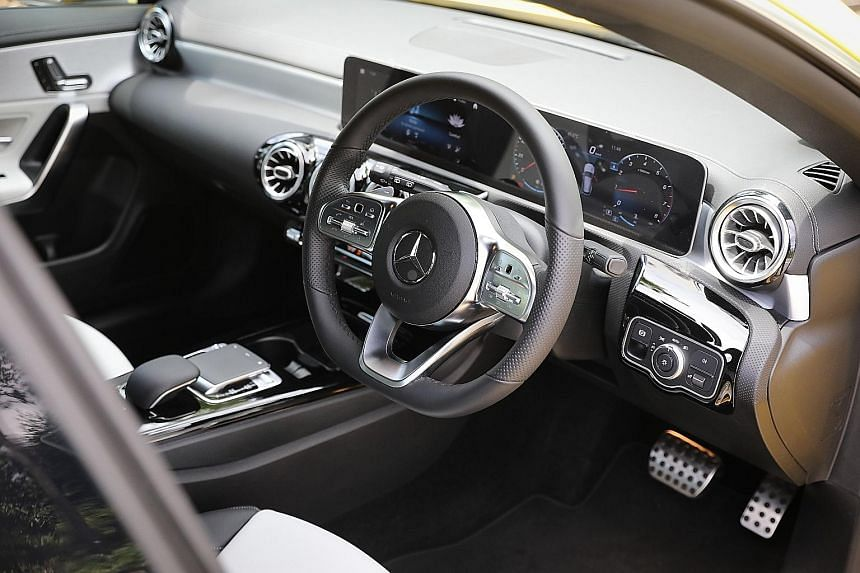 The Mercedes-Benz CLA200 AMG Line ekes out 163hp and 250Nm from its 1.33-litre four-cylinder and clocks a century sprint of 8.4 seconds.