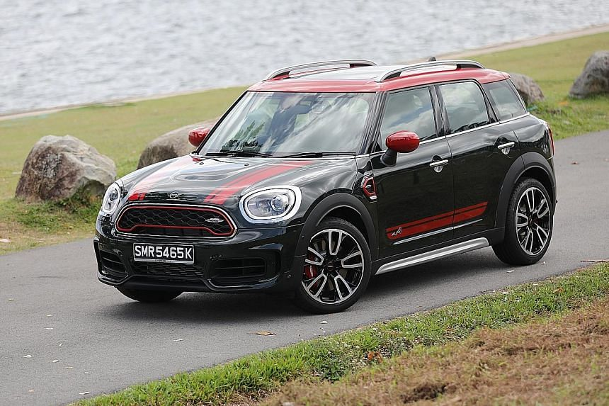 The John Cooper Works Countryman sports a 2-litre inline-4 turbocharged engine that makes 306hp and hits the 100kmh mark in 5.1 seconds.