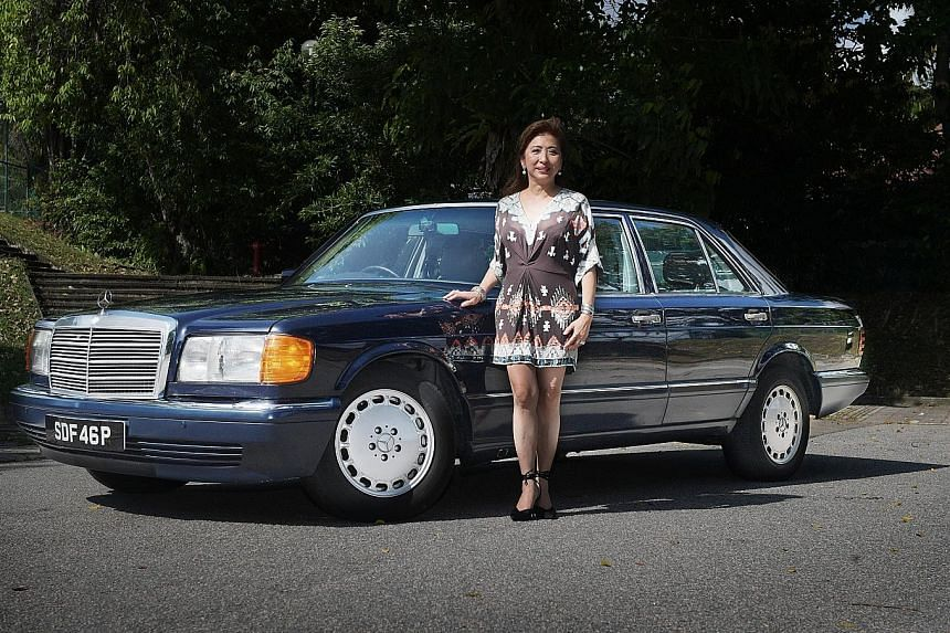 Ms Helen Sugiono, who owns a 1990 Mercedes-Benz 300SE, drives to Malaysia occasionally, to places such as Kuala Lumpur and Cameron Highlands.