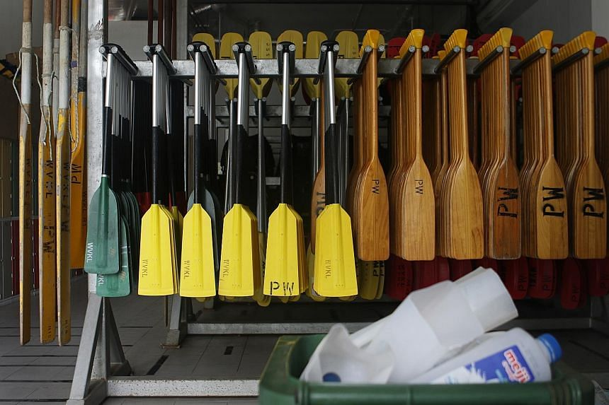 Milk cartons are recycled as dragon boat buoys at the CC.