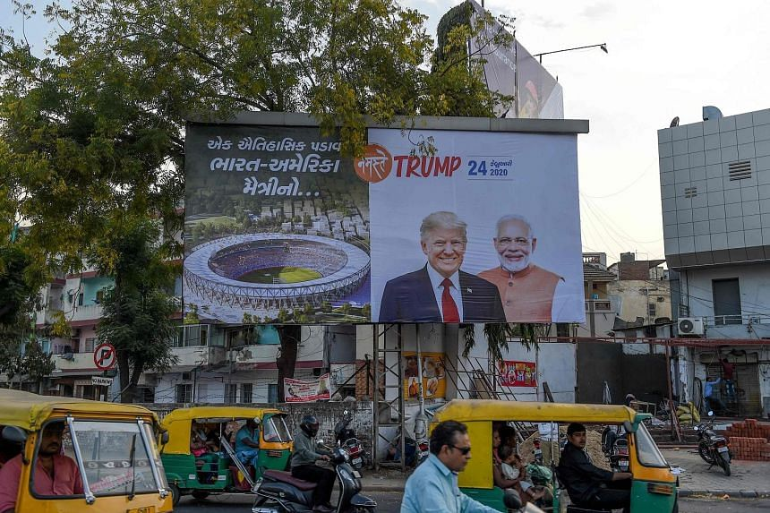 Indian Prime Minister Narendra Modi has arranged an extravagant motorcade and rally in a new stadium in his home state Gujarat for US President Donald Trump, who is making his first visit to India next Monday. PHOTO: AGENCE FRANCE-PRESSE