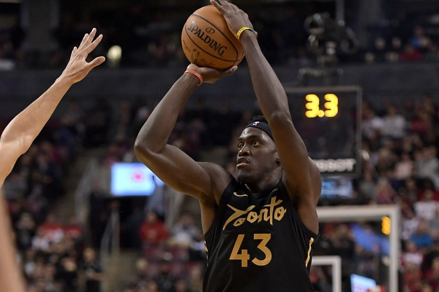 The Toronto Raptors' Pascal Siakam in action during the NBA match against the Phoenix Suns at Scotiabank Arena in Toronto on Feb 21, 2020.