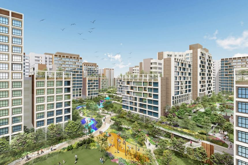 Artist impressions of HBD's new BTO flats at Garden Vines @ Tengah. More two-room build-to-order (BTO) flats will be offered in the non-mature towns of Choa Chu Kang, Tengah and Woodlands.