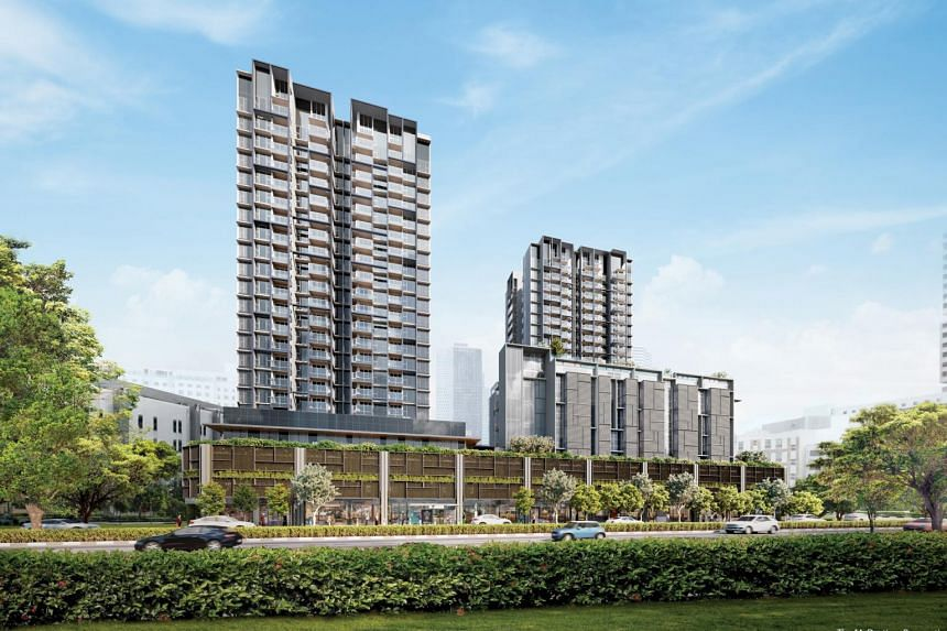 Artist's impression of The M condominium, a 522-unit residential-commercial property. Units were sold at an average price of $2,450 per square foot.