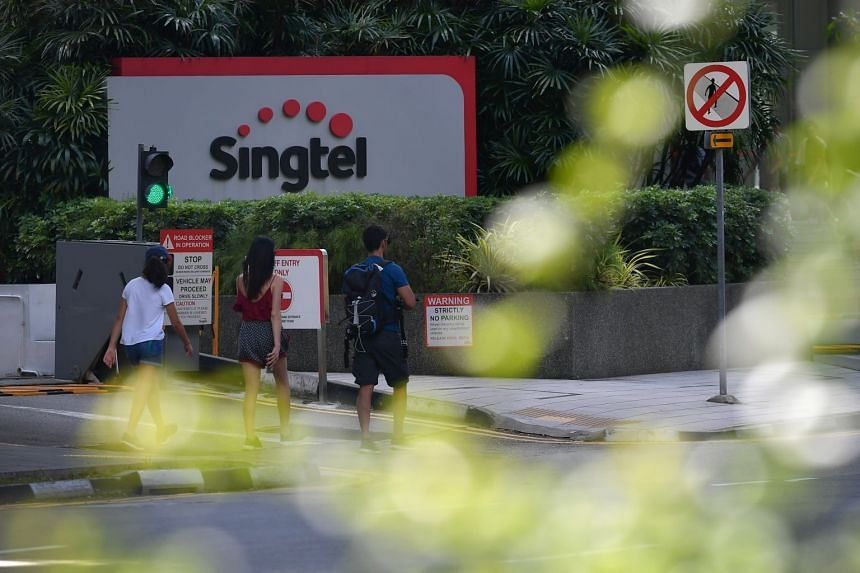 The Singtel office in Singapore.