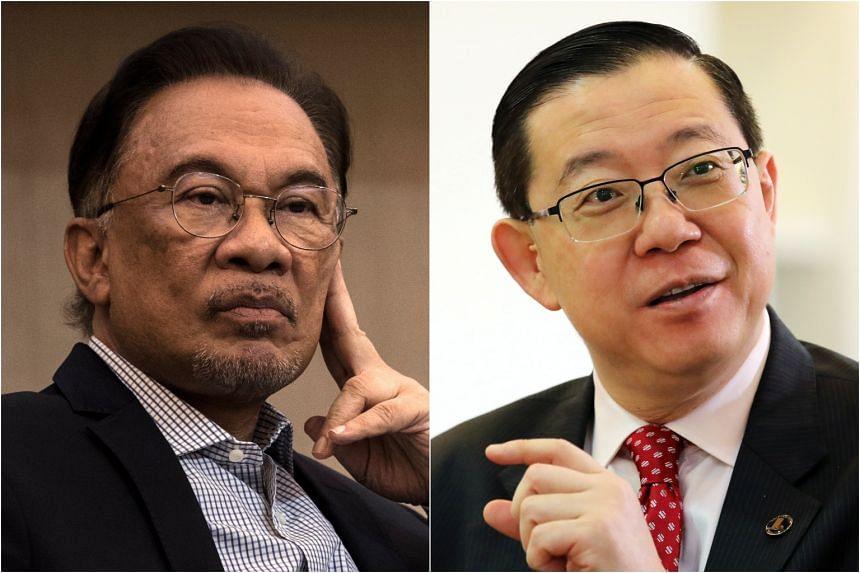 PKR president Anwar Ibrahim and DAP secretary-general Lim Guan Eng.
