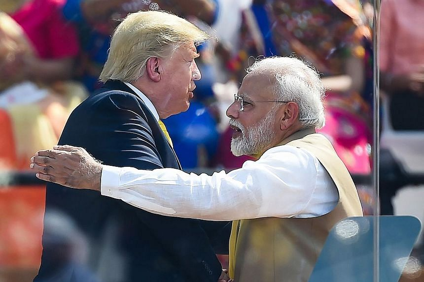 Mr Modi, who has built a personal rapport with Mr Trump, is pulling out all the stops for the US President's visit.
