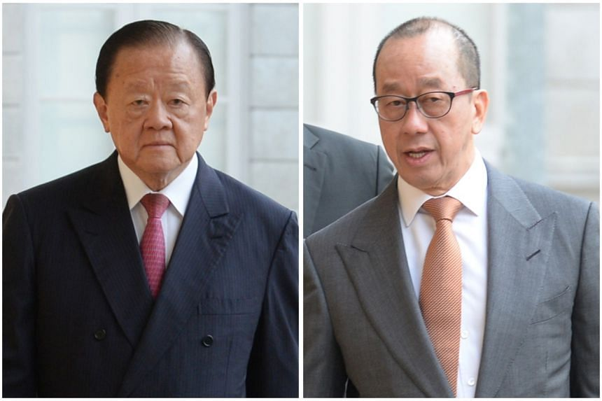 The High Court dismissed the lawsuit of tycoon Oei Hong Leong (left) against Raffles Education chairman Chew Hua Seng over an alleged promise by Mr Chew to procure a buyer for Mr Oei's shares in the mainboard-listed education provider.