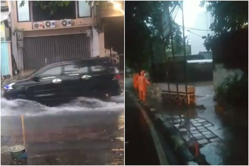 More than 80 spots of flooding were reported in Jakarta, with more than 300 electrical substations in the flooded areas were shut down temporarily for safety.