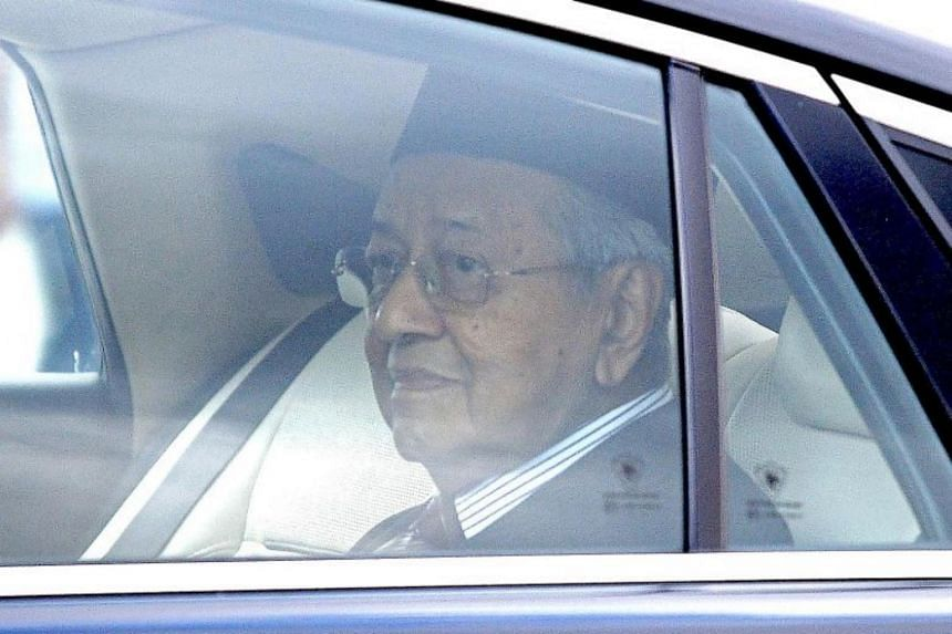 Tun Dr Mahathir Mohamad leaves the national palace in Kuala Lumpur on Feb 24, 2020.