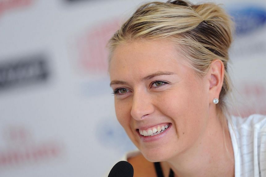 A 2013 photo shows Sharapova during a press conference at the Italian Open in Rome.