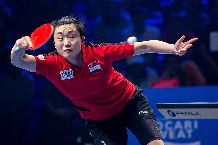 Singapore's women team, led by world No. 8 Feng Tianwei, earned a berth at the July 24-Aug 9 Tokyo Olympics at the qualifiers last month. PHOTO: T2 DIAMOND