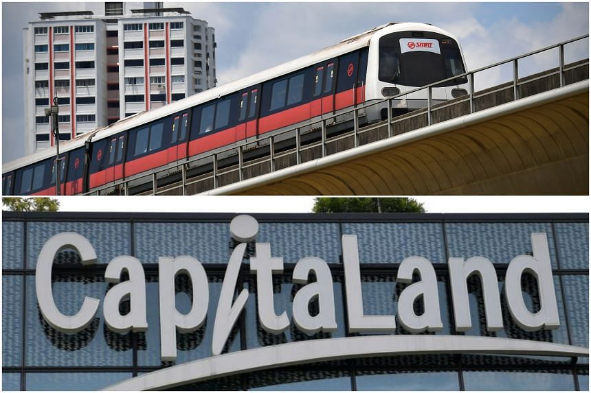 SMRT is fully owned by Temasek, while the state investor is CapitaLand's majority shareholder.