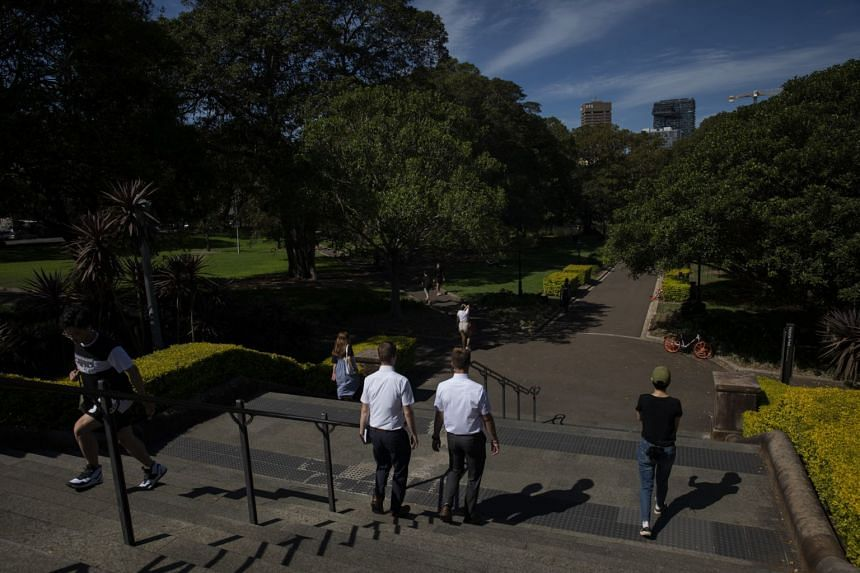 Students at the University of Sydney on Feb 25, 2020. The universities in Australia are facing estimated losses of up to A$3 billion due to a coronavirus-related travel ban.