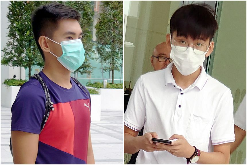 Zachary Lim Yong Hao (left), who was then studying in a junior college, was caught in a women's toilet in NUS, while Republic Polytechnic student Tee Ze Qian was spotted in a women's toilet at the polytechnic's swimming complex..