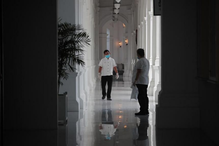 Hotels in Singapore have adopted cost-cutting measures as occupancy plummets amid the virus outbreak.