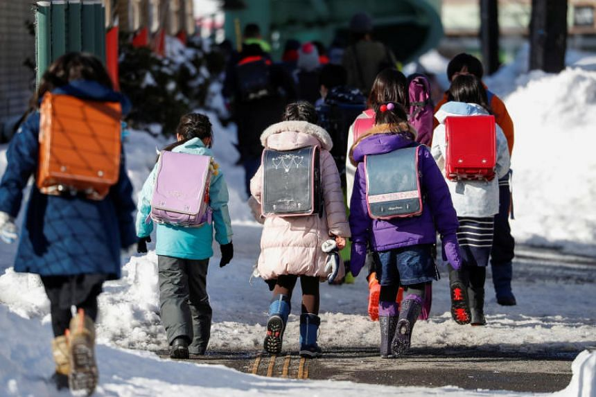 The decision comes after Hokkaido shut its 1,600 public schools from Thursday as the number of coronavirus cases in the prefecture grew.