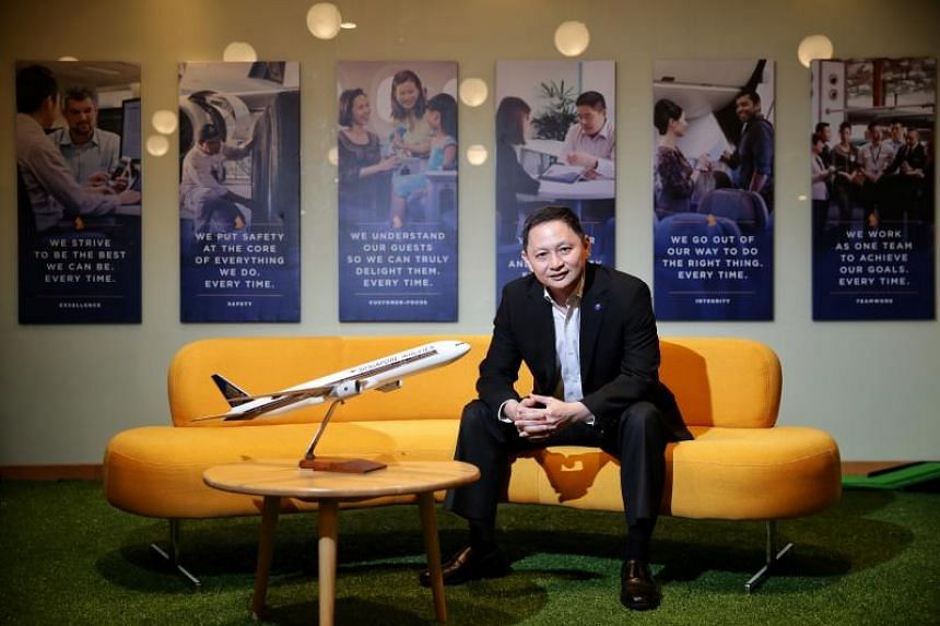 Singapore Airlines chief executive Goh Choon Phong said in a note to staff that his management team will take the lead with a salary cut effective March 1, 2020.
