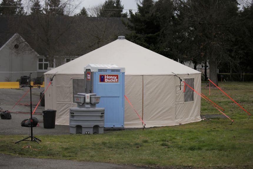 An earmarked quarantine site for healthy people potentially exposed to the coronavirus in Shoreline, Washington state, on Feb 28, 2020.