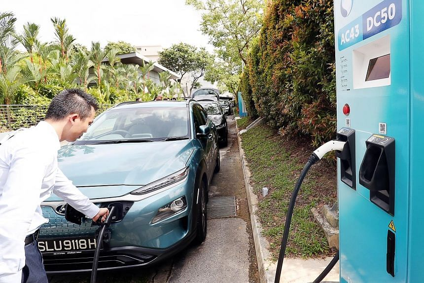 Electric vehicle charging points in Singapore will grow from the current 1,600 to 28,000 by 2030, according to the recent Budget statement. Mr Joe Nguyen, who imported a Tesla Model S from Hong Kong in 2016, was shocked when the electric car was slap