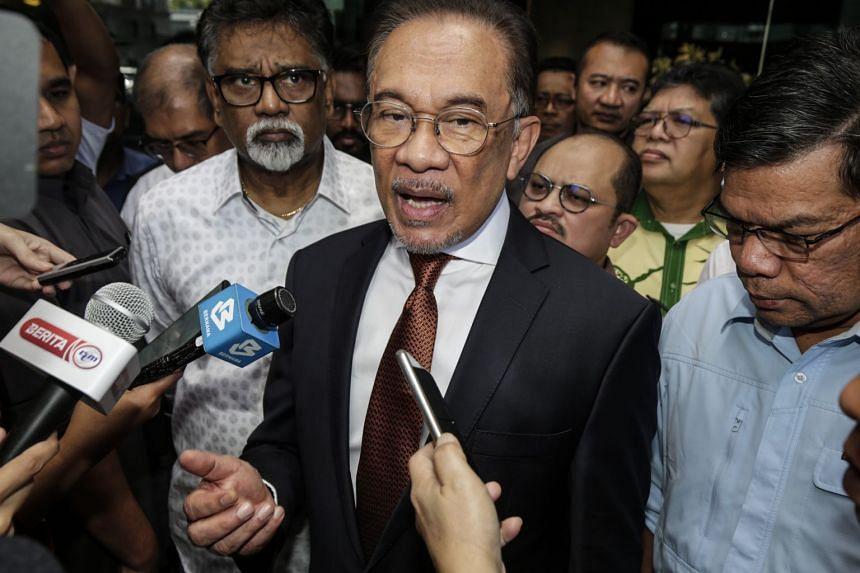 PRK president Anwar Ibrahim speaking to members of the media on Feb 29, 2020.