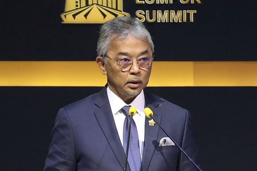 The social media posts followed the decision of the King, Sultan Abdullah Ri'ayatuddin (above), on Saturday to name former interior minister Muhyiddin Yassin as Malaysia's next prime minister.