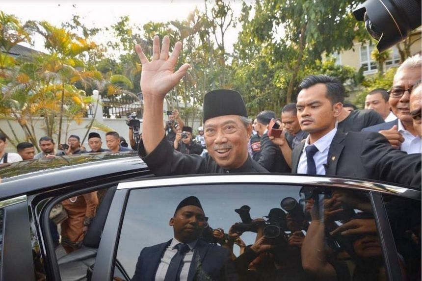 Tan Sri Muhyiddin Yassin leaving for the National Palace, on March 1, 2020.