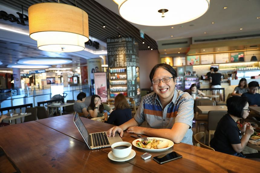 Mr Mark Lim (above), founder of special-education consultancy The Social Factor, at The Coffee Bean & Tea Leaf outlet at Waterway Point
