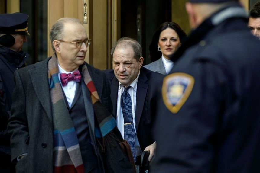 Harvey Weinstein leaves the State Supreme Court in Manhattan after the fifth day of jury deliberations.
