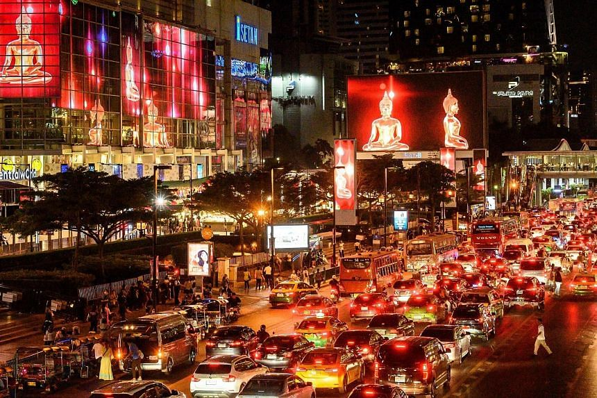 The rail development project is part of the Thai government's plan to ease air pollution and traffic congestion in Bangkok. PHOTO: AGENCE FRANCE-PRESSE