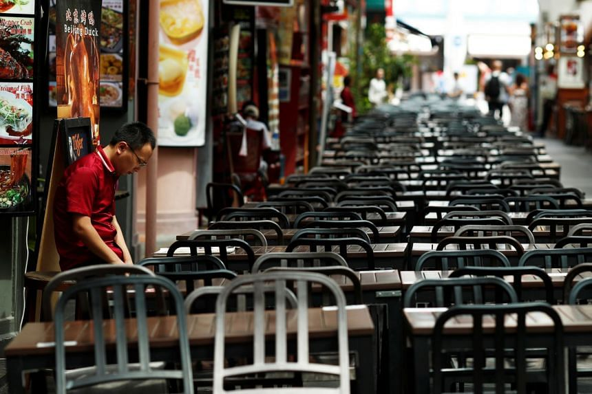 The Restaurant Association of Singapore said some restaurants expect their revenue to fall by as much as 80 per cent in the next few months.