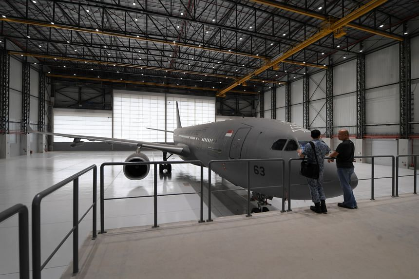 The hangar for the Republic of Singapore Air Force's A330 Multi-Role Tanker Transport is the Singapore Armed Forces' first net positive energy building.