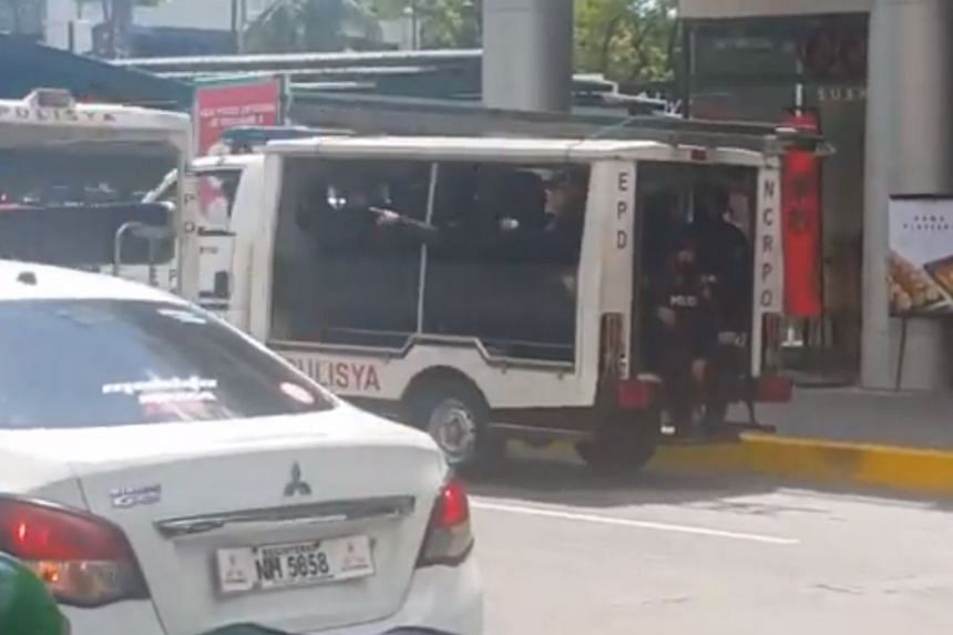 A screengrab from a video on social media showing Manila authorities at the scene.