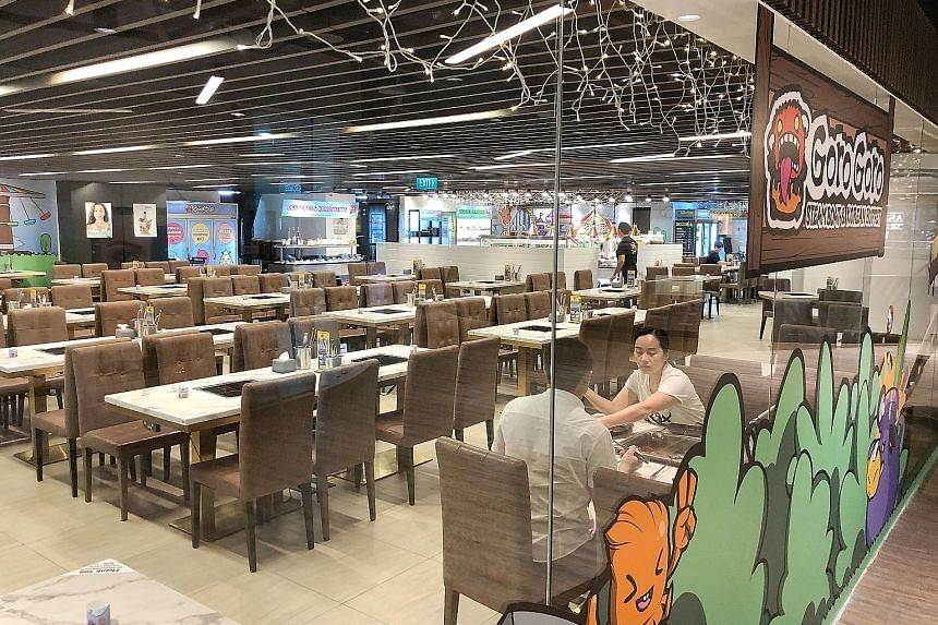 Food and beverage establishments have been hit hard by the outbreak, with many reporting slow business in the last two months. ST PHOTO: DESMOND WEE
