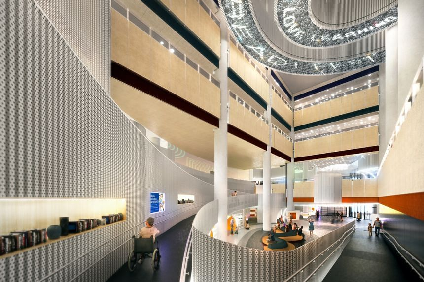 An artist's impression of the new Punggol Regional Library, which will open in late 2021.
