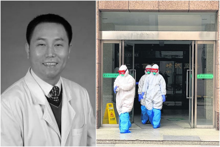 Dr Mei Zhongming was infected while treating patients with the virus, the hospital said.