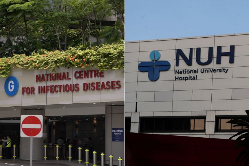 One of the two new cases is warded at the National Centre for Infectious Diseases, while the other new case is warded at the National University Hospital.