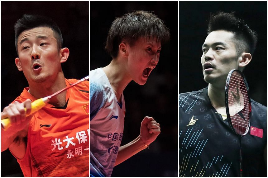 (From left) Top Chinese shuttlers Chen Long, Chen Yufei and Lin Dan will be attending the Singapore Open, which will be held at the Singapore Indoor Stadium from April 7 to 12, 2020.
