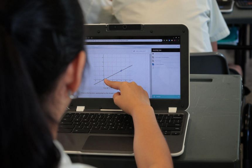 Orchid Park Secondary School has been piloting the use of personal learning devices, with all 280 students from its Secondary 1 cohort last year having a Chromebook each, on loan from the MOE.