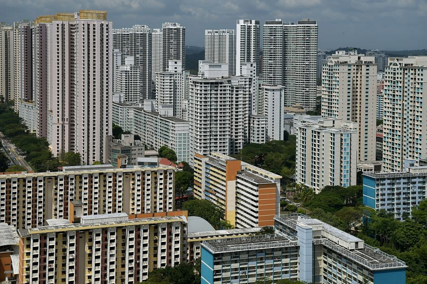 A view of public and private housing taken from Toa Payoh on Jan 31, 2019.