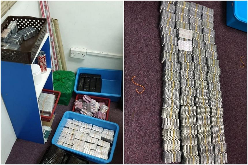 More than 125,000ml of codeine cough syrup and 63,000 units of assorted medicines, such as cough suppressants and sleeping pills, were seized.