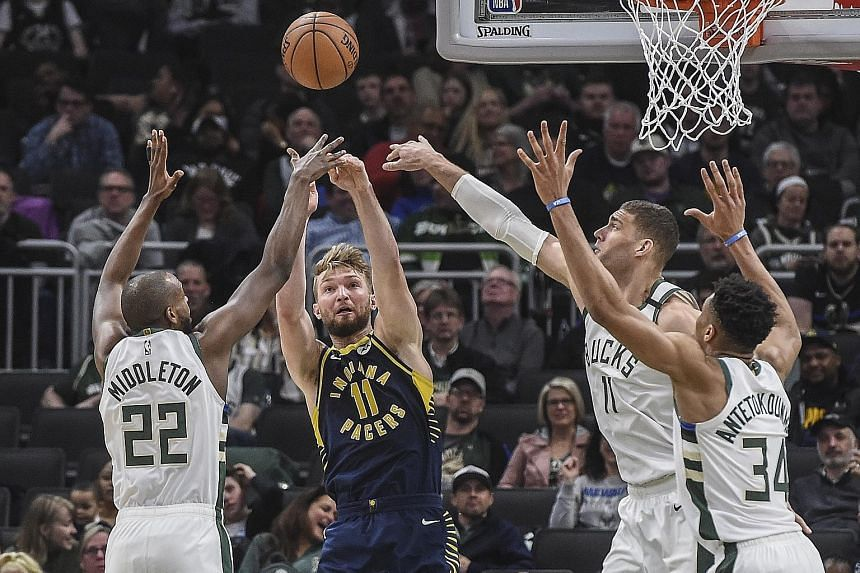 Pacers' four-game winning streak snapped with 119-100 loss to Bucks