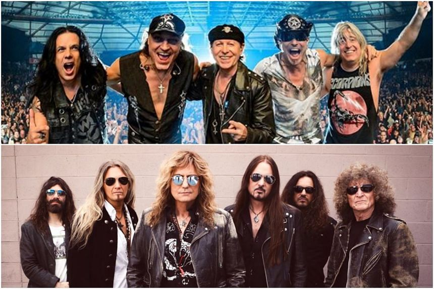 Despite the spate of concert cancellations and postponements due to the coronavirus outbreak, veteran hard rockers Scorpions (top) and Whitesnake carried on at the Singapore Rockfest II on March 4, 2020.