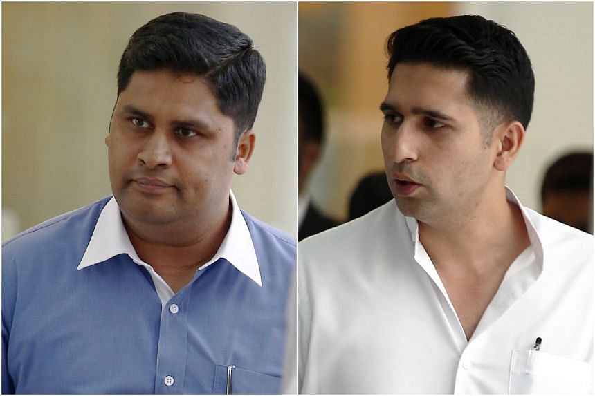 Labourtel, its director Parvis Ahmed Mohamed Ghouse (left), and one of its officers, Shaik Mohamed Mohamed Abdul Jaleel, pleaded guilty to offences under the Foreign Employee Dormitories Act.