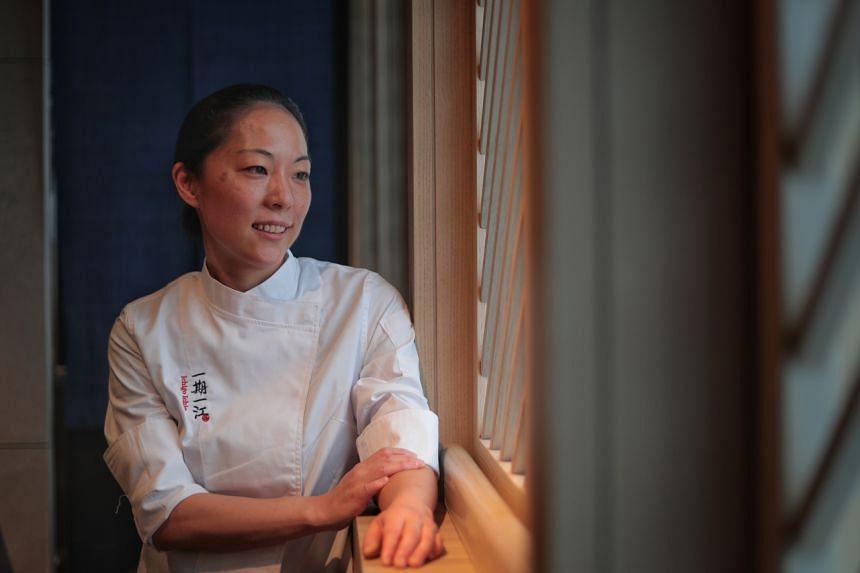 Japanese chef Akane Eno at Ichigo Ichie on Feb 28, 2020.