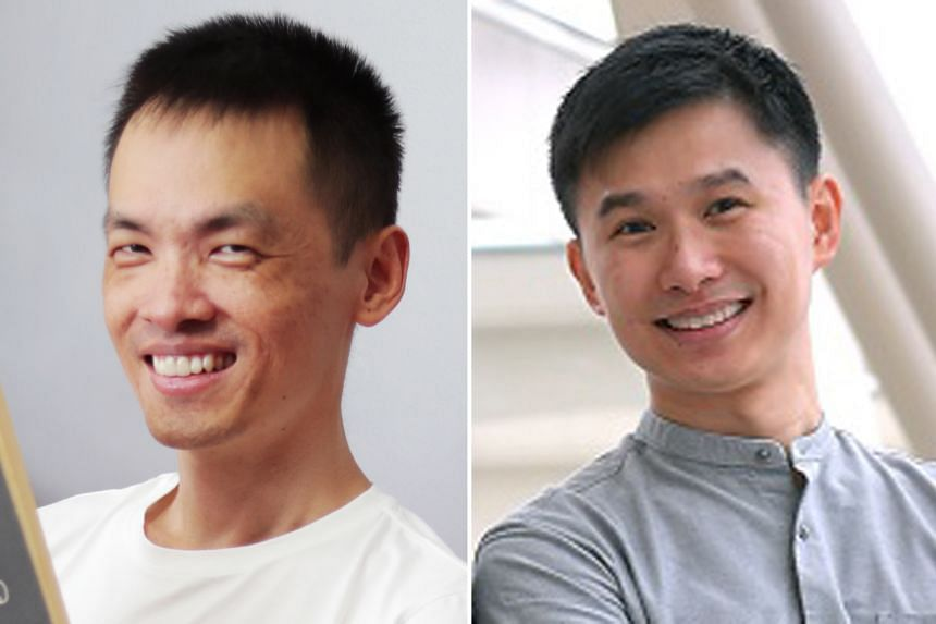 IN OUR MANNER OF SPEAKING: THE AIDS QUILT SONGBOOK: Poet Cyril Wong (left) and composer Chen Zhangyi (right) have written a song, Viral Lode.