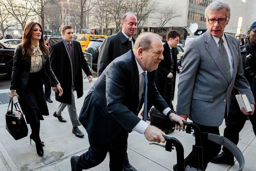 Weinstein arriving at the State Supreme Court in Manhattan on Feb. 24, 2020.
