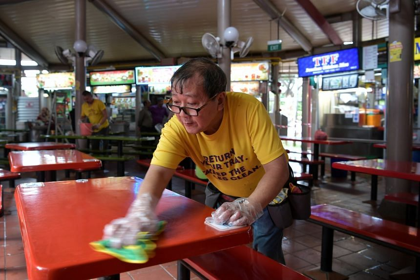 Under the SG Clean campaign, hawker centres and food stalls can get a quality mark to show they have met enhanced hygiene and cleaning standards.
