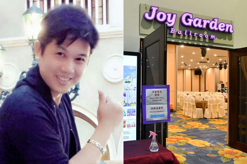 Mr Ong, who goes by his stage name Yige, was the emcee at a private dinner function held at Joy Garden restaurant at Safra Jurong on Feb 15, 2020.