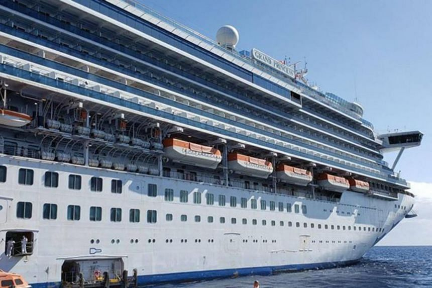 The Grand Princess cruise ship during a cruise to Hawaii in Feb 2020.